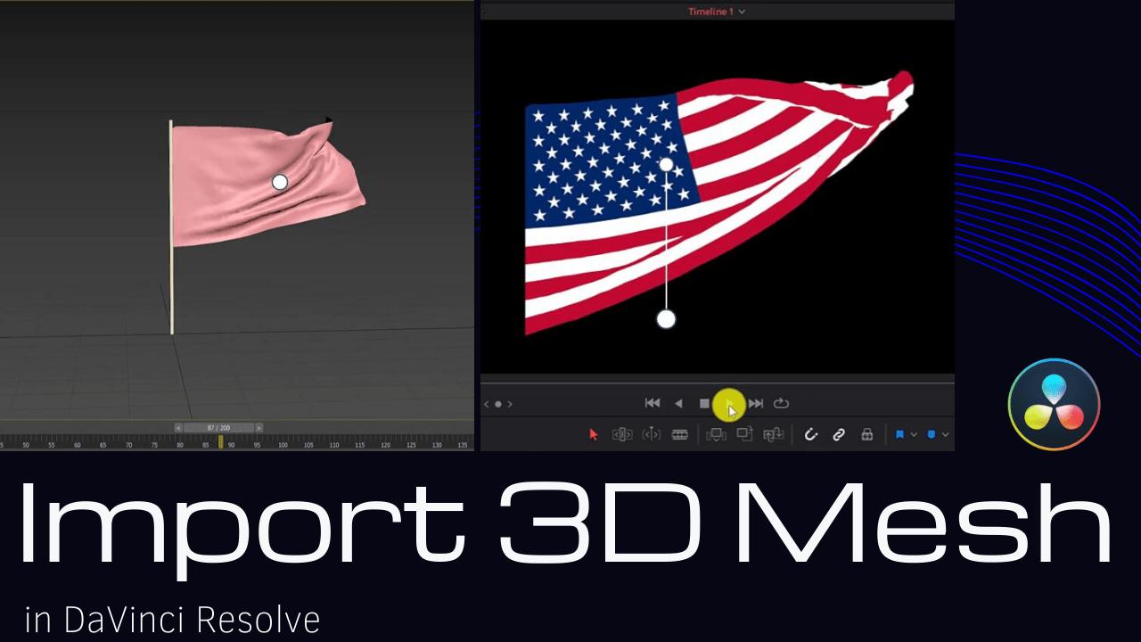 Import 3D Animation in DaVinci Resolve