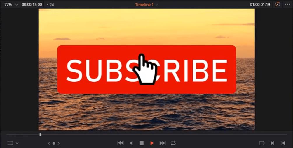 Subscribe Button Design And Animation in DaVinci Resolve 16. BONUS – Free GREEN SCREEN BUTTON Button Animation