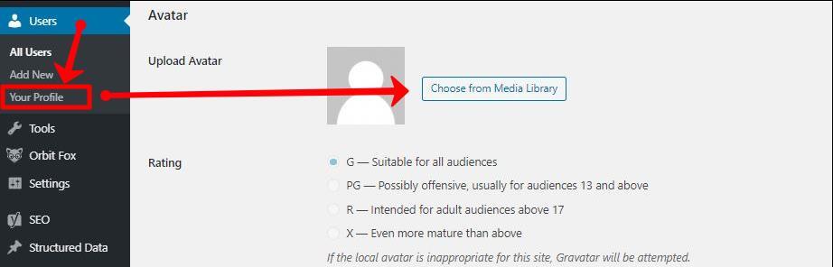 change user profile picture in wordpress
