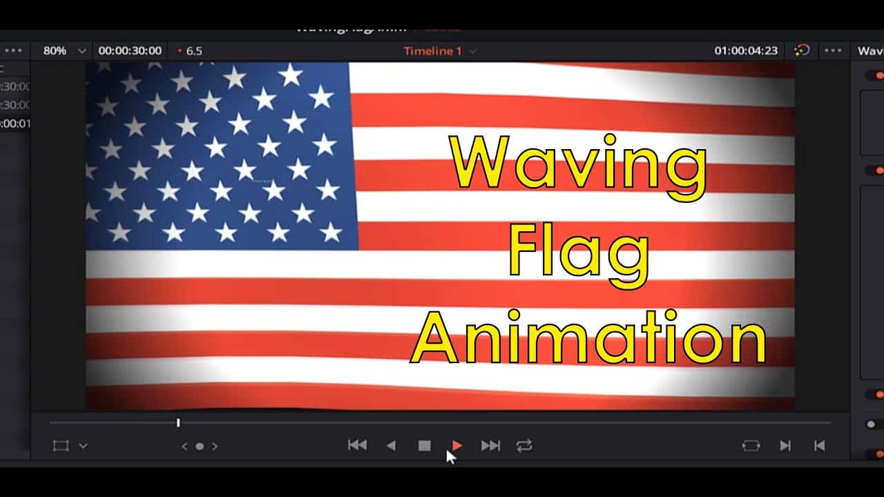 How To Make a Waving Flag Animation in DaVinci Resolve 16