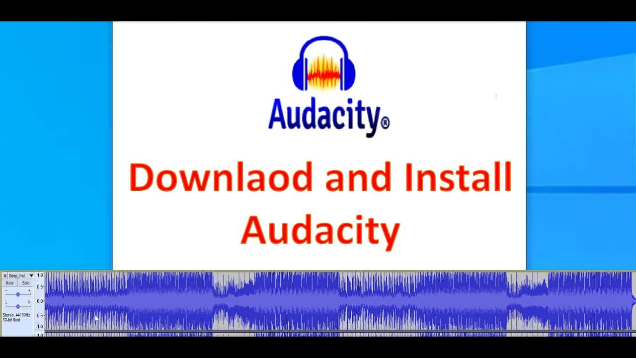 Audacity: Download And Install Free Audio Editing Software