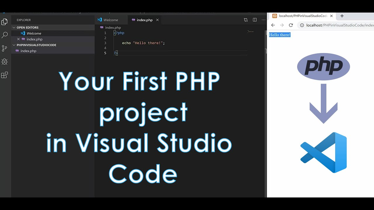 PHP in Visual Studio Code: Your first PHP project