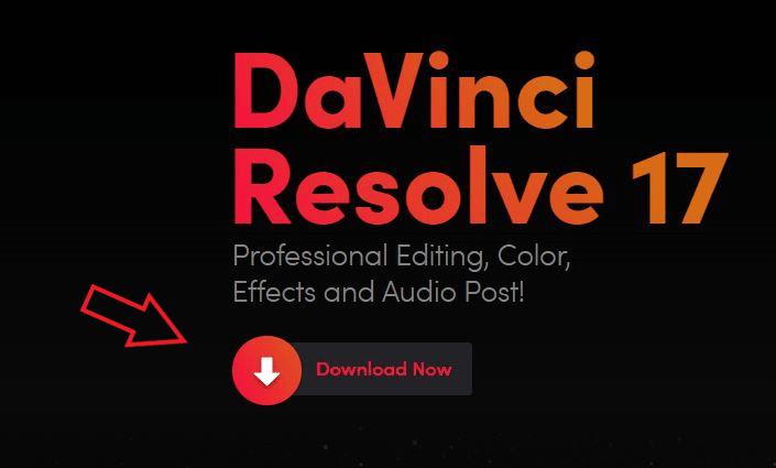 davinci resolve 17 download now