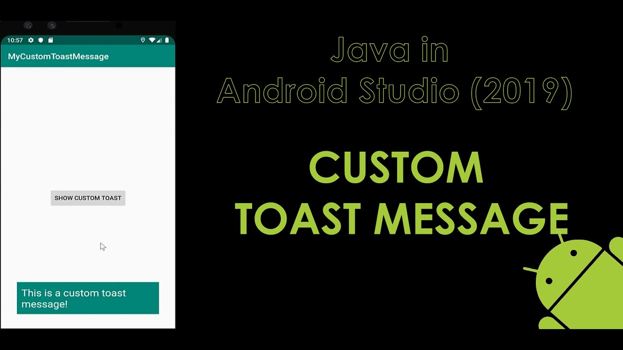 Java in Android Studio: Custom Toast Message