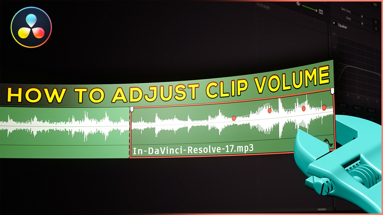 how to adjust clip volume in davinci resolve