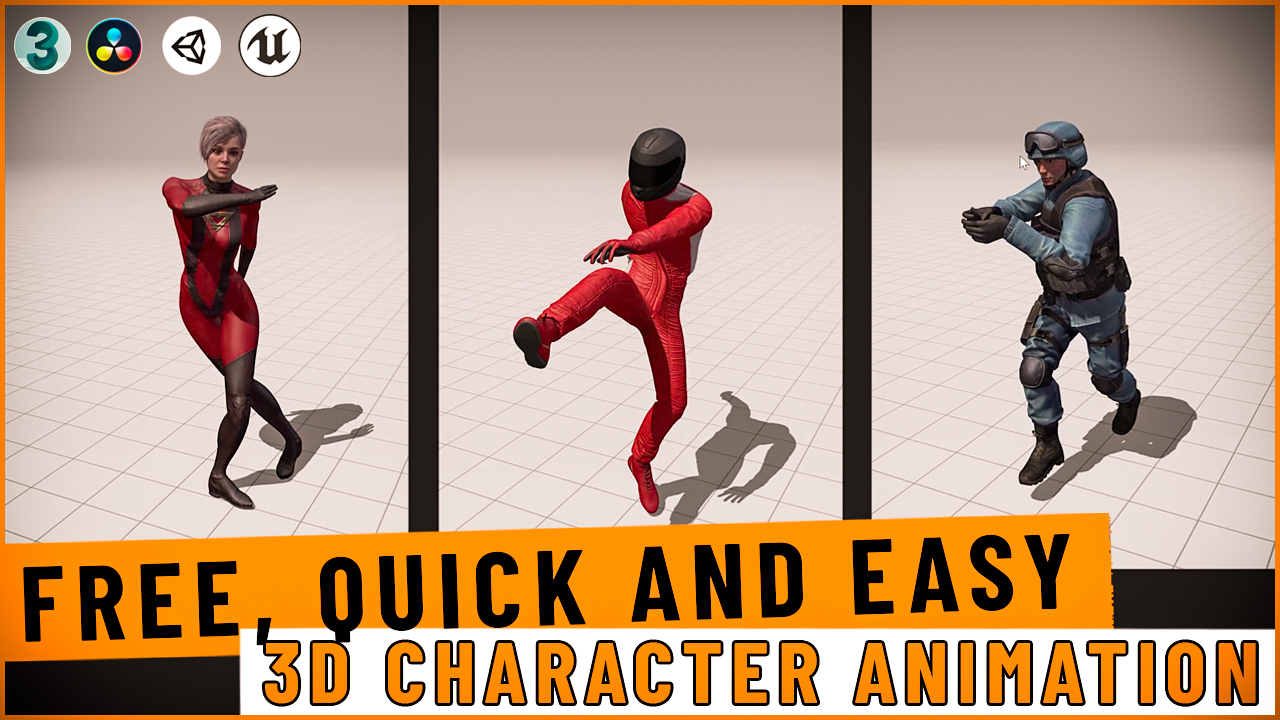 free 3d character animation